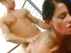tattoo, insertion, cunnilingus, pussylicking, bigtits, tight, shaved, vagina, riding, cock
