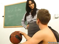 teacher, hardcore, school, diana, professor, first, busty, students, brunette