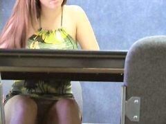 шпионски, голи жени, скрит, офис, блондинки