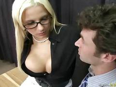 очила, цици, офис, големи цици, блондинки, учител