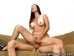 natural, big, tits, riding, hairy