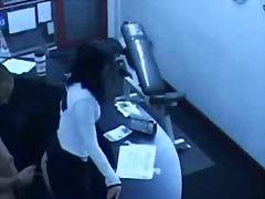 ストッキング, 後背位, オフィス, 隠しカメラ, 覗き見, スパイ