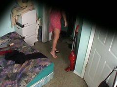 美少女, ベッド, ランジェリー, 隠しカメラ, 覗き見, スパイ