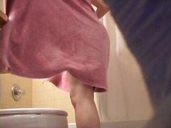 スパイ, シャワー, 美少女, 覗き見, ヌード, ティーン