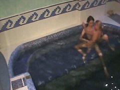 воайор, басейн, скрит, шпионски, яко ебане