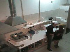 美少女, 台所, 隠しカメラ, 覗き見, ハードコア
