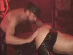 latex, fetish, style, doggy, anal, threesome