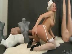 Silvia Saint, seins, masturbation, blondes, seins naturels, gros seins
