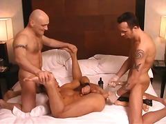 threesome, oral, dildo, tattoo, anal