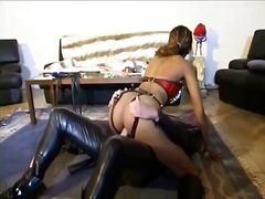 schwanz, erstaunlich, verhauen, girl, stiefel, schwarz, latex, fetish, rollenspiele