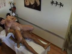 hardcore, doggy, massage, brunette, busty, fucking, masseur, asian, room, oil