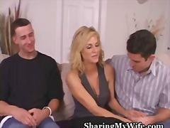 съпруга, на лицето, домашно видео, целувка