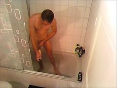 лъскане, душ, мастурбация, соло, гей