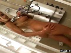 dusche, deutsch, titten, badezimmer