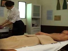 massage, dominanz, brünette, handjob, asien