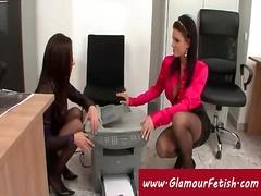 секретарки, лесбийки, офис