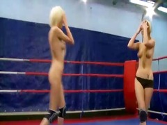 69, blonde, nude, wrestling, babe, female, muffdiving, catfight, clubs, fight