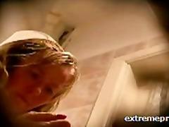 възрастни, блондинки, воайор, баня, домашно видео