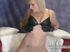 fetish, booty, leather, babe, blonde, stockings, skinny, ass, upskirts, shaved