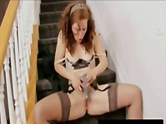 червенокоси, мастурбация, играчка, дилдо, оргазъм