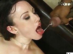 порно звезди, масов секс, на лицето, междурасово