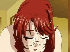 redhead, hentai, animation, big, cartoon, tits