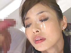 японки, изпразване на лицето, яки мацки, на лицето