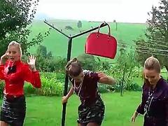messy, outdoors, wet, wam, lesbian