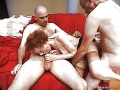 трио, мастурбация, бабички, червенокоси