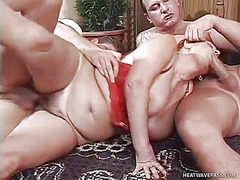 трио, едри жени, масов секс