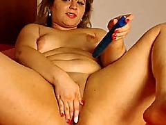милф, мастурбация, играчка, уеб камера, едри жени