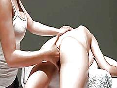 massage, chérie, lesbiennes
