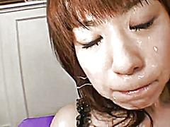 японки, празнене, изпразване на лицето, на лицето