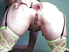 brutal, extreme, penetration, vaginal, dildo, huge, big, toys, giant, massive