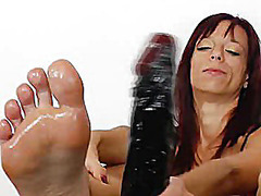 фетиш с крака, леко порно, масаж