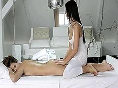 lesbiske, massage